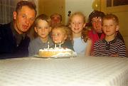 Family celebration of third birthday.