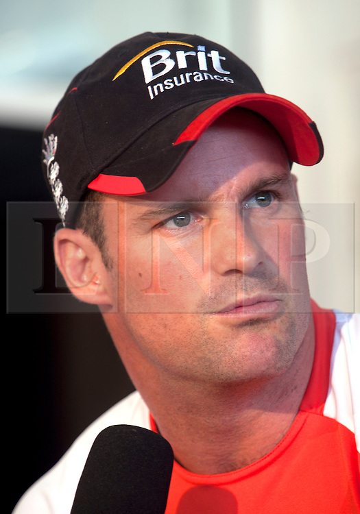 ©London News Pictures. 25/03/2011. England cricket captain Andrew Strauss at a press conference ahead of  ICC cricket World cup in Sri Lanka. Photo credit should read Asanka Brendon Ratnayake/London News Pictures