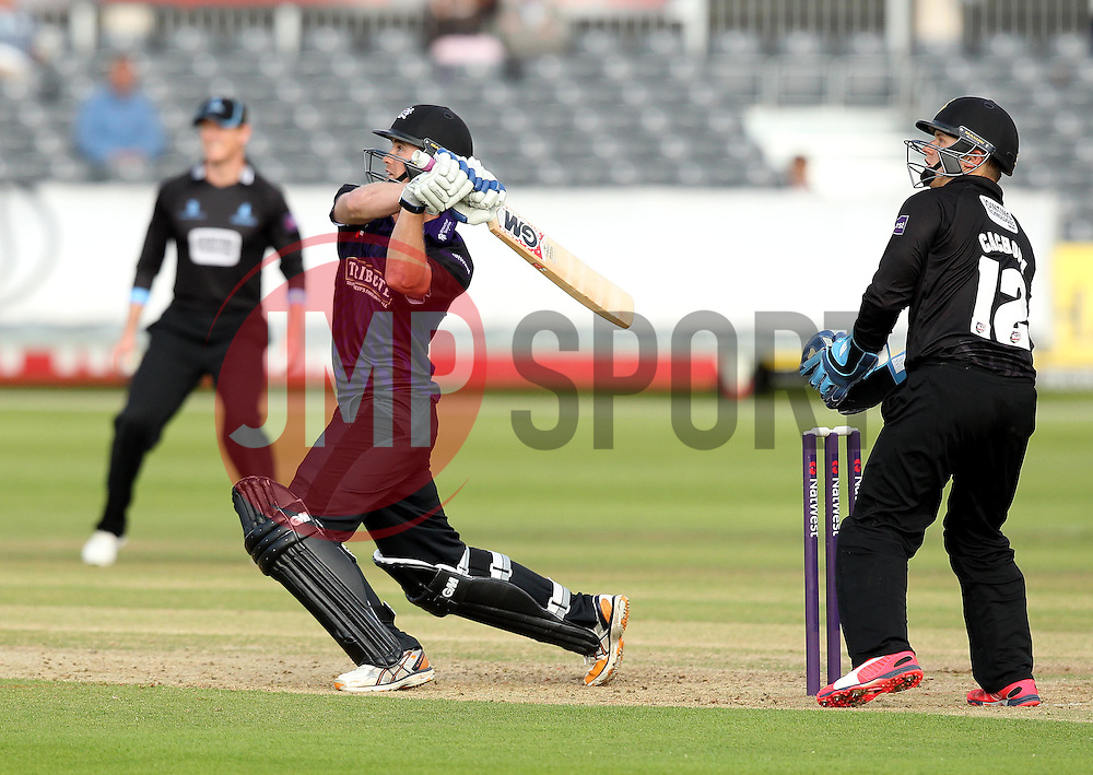 Gloucestershire's Ian Cockbain strikes the ball - Photo mandatory by-line: Robbie Stephenson/JMP - Mobile: 07966 386802 - 26/06/2015 - SPORT - Cricket - Bristol - The County Ground - Gloucestershire v Sussex - Natwest T20 Blast
