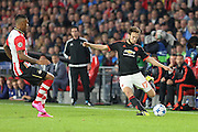 Daley Blind of Manchester United during the Champions League Group B match between PSV Eindhoven and Manchester United at Philips Stadion, Eindhoven, Netherlands on 15 September 2015. Photo by Phil Duncan.