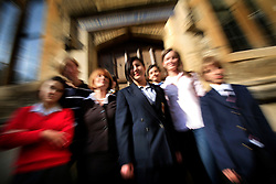 UK ENGLAND OXFORD 20SEP08 - School children from various boarding schools pose for a photo with Alexandra von Buelow-Steinbeis at Oxford, England...jre/Photo by Jiri Rezac..© Jiri Rezac 2008..Contact: +44 (0) 7050 110 417.Mobile:  +44 (0) 7801 337 683.Office:  +44 (0) 20 8968 9635..Email:   jiri@jirirezac.com.Web:    www.jirirezac.com..All images © Jiri Rezac 2008. All rights reserved.