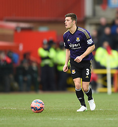 West Ham's Aaron Cresswell in action during the FA Cup fourth round match between Bristol City and West Ham United at Ashton Gate on 25 January 2015 in Bristol, England - Photo mandatory by-line: Paul Knight/JMP - Mobile: 07966 386802 - 25/01/2015 - SPORT - Football - Bristol - Ashton Gate - Bristol City v West Ham United - FA Cup fourth round