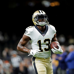 Aug 9, 2019; New Orleans, LA, USA; New Orleans Saints wide receiver Michael Thomas (13) during warm ups prior to a preseason game against the Minnesota Vikings at the Mercedes-Benz Superdome. Mandatory Credit: Derick E. Hingle-USA TODAY Sports