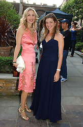 Left to right, ALLEGRA HICKS and MICHELLE BAROUH Creative Director of Michele Watches at the annual Michele Watches Summer Party held in the gardens of Home House, 20 Portman Square, London W1 on 15th June 2006.<br />