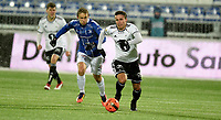 Fotball ,11. mars 2018 , Eliteserien , Sarpsborg - Rosenborg <br /> Anders Trondsen   ,RBK<br /> Mikkel Agger , sarpsborg