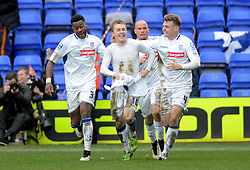 Tranmere Rovers's George Green celebrates scoring the equalising goal - Photo mandatory by-line: Richard Martin-Roberts/JMP - Mobile: 07966 386802 - 28/03/2015 - SPORT - Football - Birkenhead - Prenton Park - Tranmere Rovers v AFC Wimbledon - Sky Bet League Two