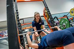 15-03-2017 NED:  Training jeugd Oranje, Arnhem<br /> Jeugd Oranje klaar voor het EK in eigen land maar eerst nog een pittige training / Susanne Kos #1 of Netherlands