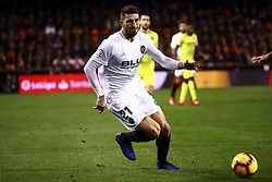 January 26, 2019 - Valencia, Spain - Piccini of Valencia CF  during  spanish La Liga match between Valencia CF vs Villarreal CF at Mestalla Stadium on Jaunary  26, 2019. (Credit Image: © Jose Miguel Fernandez/NurPhoto via ZUMA Press)