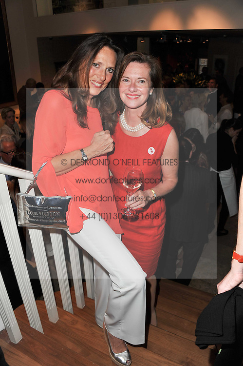 Left to right, SARA CARELLO and MELISSA KNATCHBULL at a party to celebrate the publication of 'Garden' by Randle Siddeley held at Linley, 60 Pimlico Road, London on 24th May 2011.