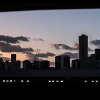 A general view of the Melbourne skyline on day nine of the 2017 Australian Open at Melbourne Park on January 24, 2017 in Melbourne, Australia.<br /> (Ben Solomon/Tennis Australia)