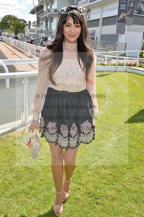ZARA MARTIN at the Investec Derby 2015 at Epsom Racecourse, Epsom, Surrey on 6th June 2015.