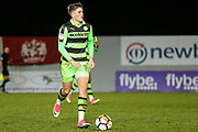 Forest Green Rovers Charlie Cooper(15) during the 2nd round replay in The FA Cup match between Exeter City and Forest Green Rovers at St James' Park, Exeter, England on 12 December 2017. Photo by Shane Healey.