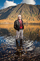 Clark James Mishler at Mirror Lake, near Anchorage, Alaska