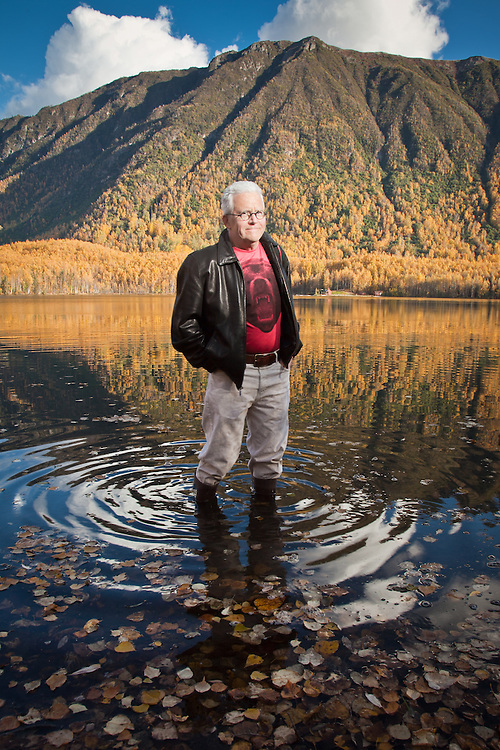 Clark James Mishler at Mirror Lake, near Anchorage, Alaska