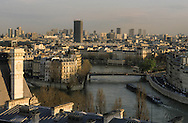 France. Paris. elevated view on  . vue depuis les toits de hôtel de ville