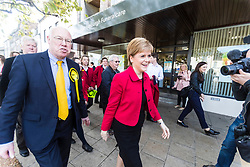 Nicola Sturgeon joins the SNP's candidate for East Lothian George Kerevan on the campaign trail in Musselburgh tomorrow. <br /> <br /> The First Minister commented that a vote for the SNP is vital to ensure that Scotland's jobs and industries are protected. An SNP victory in the General Election will give the party a mandate to demand that the Scottish Government is at the top table in Brexit negotiations, standing up for the interests of businesses and for workers rights.<br /> <br /> Pictured: Nicola Sturgeon and George Kerevan