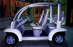Alternate fuel vehicle produced by THINK.  Golf cart styling