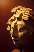 MEXICO, MEXICO CITY, MUSEUM Mayan; stucco mask from Palenque