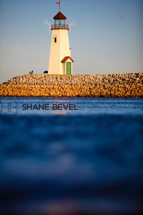 Photos of the Lake Hefner Lighthouse in Oklahoma City at dawn. ..Photos by Shane Bevel