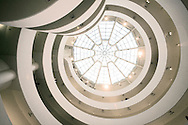 Looking up at the Guggenheim