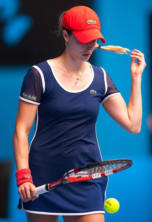 ALIZA CONET (FRA) faced M. Sharapova (RUS) in Women's Singles action in Day Six of the Australian Open. Sharapova won the morning match 6-1, 7-6 (6) at Melbourne's Rod Laver Arena. ALIZA CORNET.