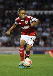 Bristol City's Bobby Reid  - Photo mandatory by-line: Joe Meredith/JMP - Tel: Mobile: 07966 386802 04/09/2013 - SPORT - FOOTBALL -  Ashton Gate - Bristol - Bristol City V Bristol Rovers - Johnstone Paint Trophy - First Round - Bristol Derby