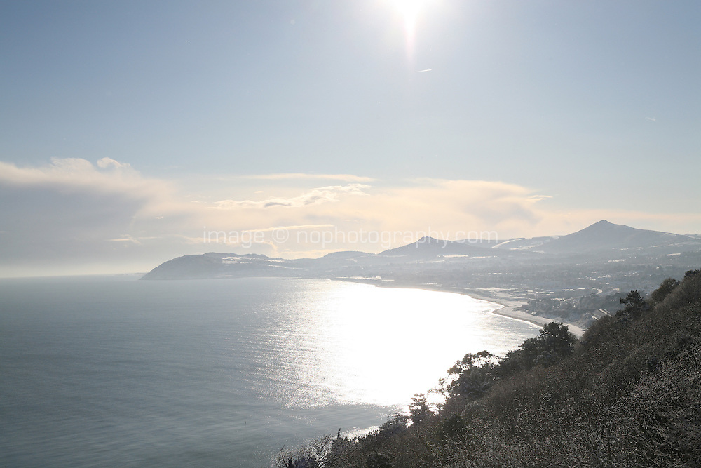 View of Bray from Dalkey Hill Dublin Ireland November 2010