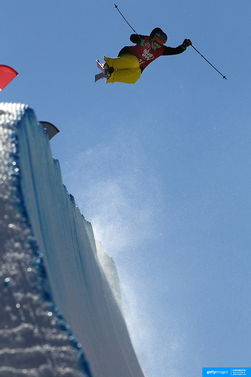 Kalle Hilden, Finland, in action in the Halfpipe Finals during The North Face Freeski Open at Snow Park, Wanaka, New Zealand, 3rd September 2011. Photo Tim Clayton..