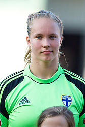 LLANELLI, WALES - Thursday, August 22, 2013: Finland's goalkeeper Vera Varis during the Group B match of the UEFA Women's Under-19 Championship Wales 2013 tournament at Parc y Scarlets. (Pic by David Rawcliffe/Propaganda)
