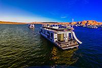 Houseboats, Wahweap Marina, Lake Powell, Glen Canyon National Recreation Area, Arizona USA