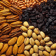 Detail of different  nuts.