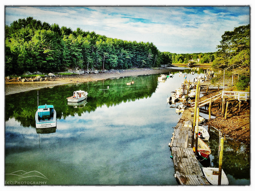 "Lobster boats in Sagamore Creek, Portsmouth, New Hampshire. iPhone photo - suitable for print reproduction up to 8"" x 12""."
