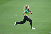 Freya Davies of Western Storm running in to bowl during the Kia Women's Cricket Super League Final match between Western Storm and Southern Vipers at the 1st Central County Ground, Hove, United Kingdom on 1 September 2019.