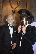 GEORGE WIGGIN; HARRY BROCKBANK, Ball at to celebrateBlanche Howard's 21st and  George Howard's 30th  birthday. Dress code: Black Tie with a touch of Surrealism. Castle Howard. Yorkshire. 14 November 2015