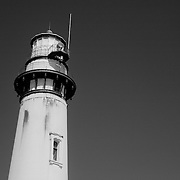 Pigeon Point Lighthouse Close View - North Santa Cruz County, CA - Black & White