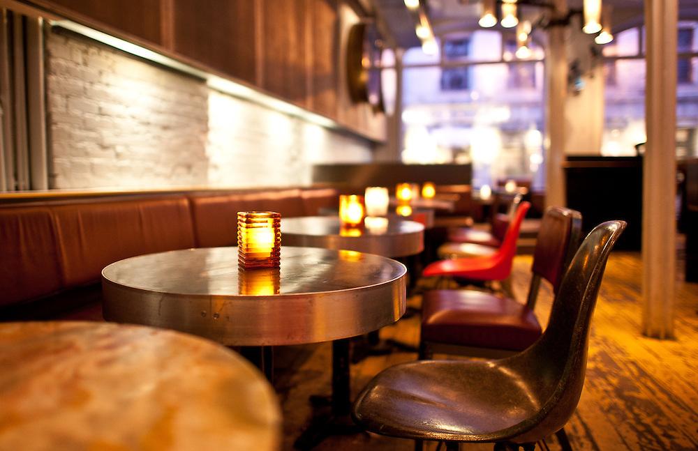 Interior photographs of Philemon Bar in Montreal, Quebec