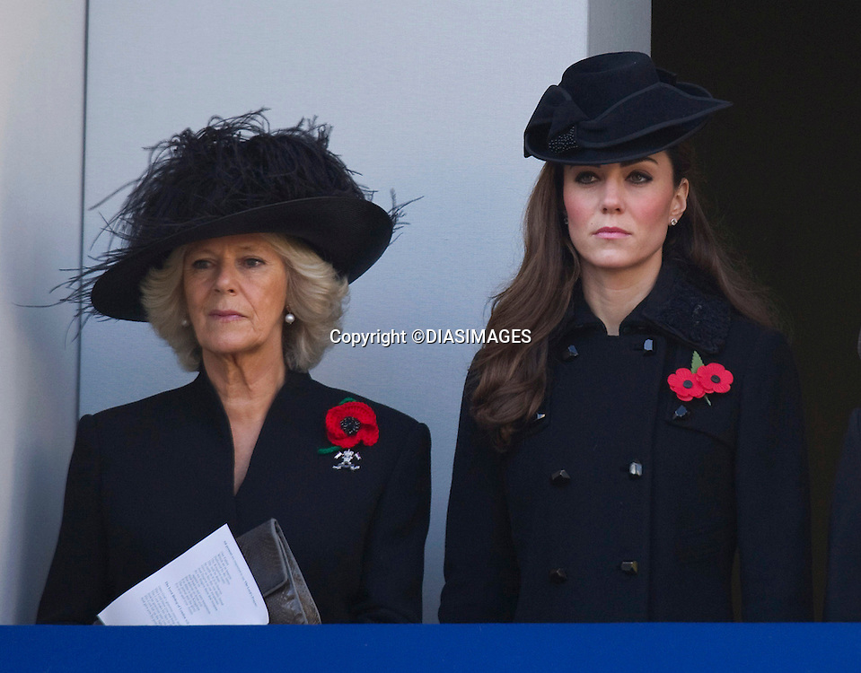 "CATHERINE, DUCHESS OF CAMBRIDGE AND CAMILLA, DUCHESS OF CORNWALL, REMEMBRANCE SERVICE.Kate's attended her 1st Remembrance Service with members of the Royal Family at the Cenotaph, London_13th November 2011.Photo Credit Mandatory: ©Dias/DIASIMAGES..Mandatory credit photo:©DIASIMAGES(Failure to credit will incur a surcharge of 100% of reproduction fees)..**ALL FEES PAYABLE TO: ""NEWSPIX  INTERNATIONAL""**..IMMEDIATE CONFIRMATION OF USAGE REQUIRED:.DiasImages, 31a Chinnery Hill, Bishop's Stortford, ENGLAND CM23 3PS.Tel:+441279 324672  ; Fax: +441279656877.Mobile:  07775681153.e-mail: info@newspixinternational.co.uk"