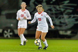 NORMAL, IL - October 17:   Abby Basler during an NCAA Missouri Valley Conference (MVC)  women's soccer match between the Indiana State Sycamores and the Illinois State Redbirds October 17 2018 on Adelaide Street Field in Normal IL (Photo by Alan Look)