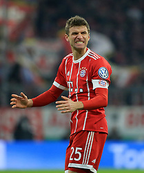 20171220, DFB Pokal, FC Bayern vs Borussia Dortmund, Allianz Arena Muenchen, Fussball, Sport, im Bild:..Thomas Mueller (FCB)...*Copyright by:  Philippe Ruiz..Postbank Muenchen.IBAN: DE91 7001 0080 0622 5428 08..Oberbrunner Strasse 2.81475 MŸnchen, .Tel: 089 745 82 22, .Mobil: 0177 29 39 408..( MAIL:  philippe_ruiz@gmx.de ) ..Homepage: www.sportpressefoto-ruiz.de. (Credit Image: © Philippe Ruiz/Xinhua via ZUMA Wire)