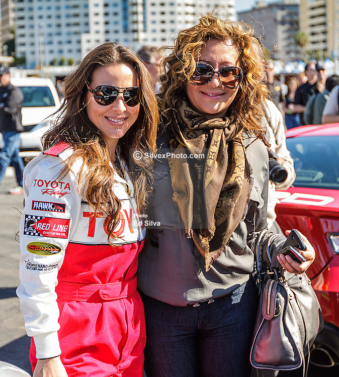LONG BEACH, CA/USA (Tuesday, April 9, 2013) -  Mexico's most acclaimed and popular actresses, Kate del Castillo, poses with Jessica Maldonado of UNIVISON  during the 2013 Toyota PRO/Celebrity Race Press/Practice. PHOTO © Eduardo E. Silva/SILVEX.PHOTOSHELTER.COM.