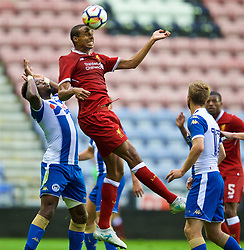 WIGAN, ENGLAND - Friday, July 14, 2017: Liverpool's Joel Matip in action against Wigan Athletic during a preseason friendly match at the DW Stadium. (Pic by David Rawcliffe/Propaganda)