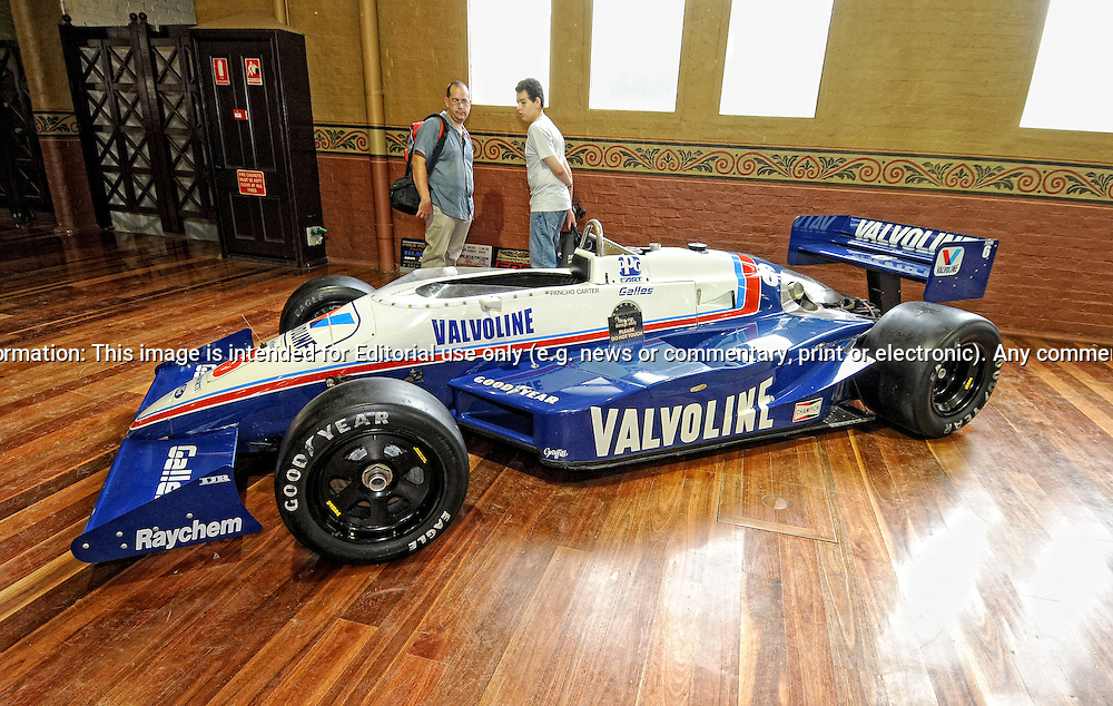 1985 March 85C Indy/Champ Car.RACV Motorclassica.The Australian International Concours d'Elegance & Classic Motor Show.Royal Exhibition Building .Carlton, Melbourne, Victoria.October 22nd 2011.(C) Joel Strickland Photographics.Use information: This image is intended for Editorial use only (e.g. news or commentary, print or electronic). Any commercial or promotional use requires additional clearance.