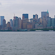 New York city from the East River. USA.