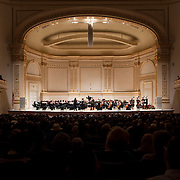 November 25, 2012 - New York, NY : Music director Joshua Gersen leads the New York Youth Symphony as it kicks off its 50th season, in Carnegie Hall's Isaac Stern Auditorium on Sunday afternoon. CREDIT: Karsten Moran for The New York Times