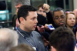 """US Representative Jason Chaffetz of Utah, and chairman of the United States House Committee on Oversight and Government Reform, meets with the media, at the """"Congress of Tomorrow"""" Joint Republican Issues Conference, at the Loews Hotel, in Center City, Philadelphia, Pennsylvania, on January 25, 2017."""