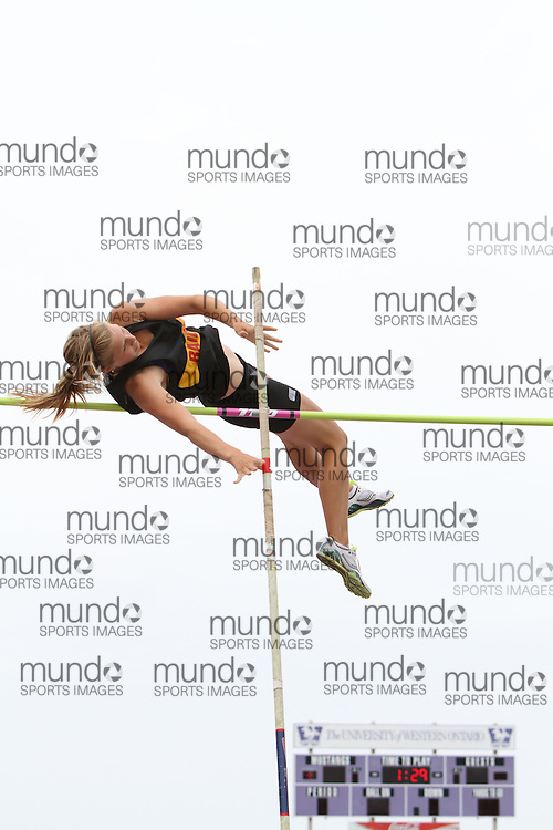 (London, Ontario}---04 June 2010) Marielle Harper of Kitchener Waterloo - Kitchener competing in the senior girls pole vault at the 2010 OFSAA Ontario High School Track and Field Championships in London, Ontario, June 04, 2010 . Photograph copyright Laura Barclay / Mundo Sport Images, 2010.