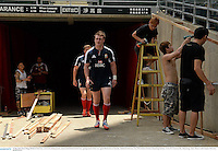 31 May 2013; Stuart Hogg, British & Irish Lions, arrives for kicking practice ahead of the British & Irish Lions opening match of their tour against Barbarians on Saturday. British & Irish Lions Tour 2013, Kickers Practice, Hong Kong Stadium, So Kon Po, Causeway Bay, Hong Kong, China. Picture credit: Stephen McCarthy / SPORTSFILE