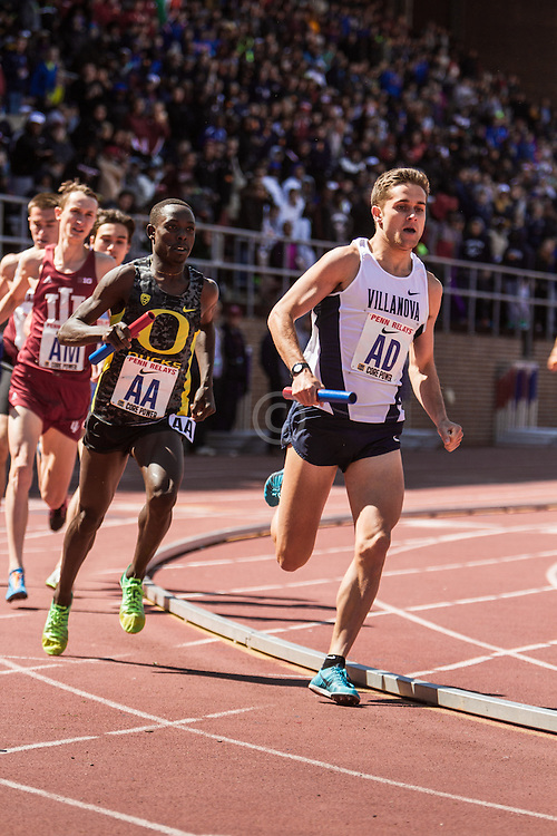 Penn Relays, College Mens Distance Medley Relay, Jordan Williamz, Villanova, Edward Cheserek, Oregon