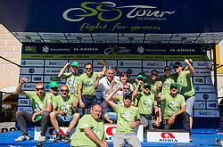 Workers Group photo after the last Stage 4 of 24th Tour of Slovenia 2017 / Tour de Slovenie from Rogaska Slatina to Novo mesto (158,2 km) cycling race on June 18, 2017 in Slovenia. Photo by Vid Ponikvar / Sportida