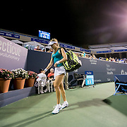 August 24, 2016, New Haven, Connecticut: <br /> Eugenie Bouchard of Canada walks off the court after being defeated by Petra Kvitova of the Czech Republic on Day 6 of the 2016 Connecticut Open at the Yale University Tennis Center on Wednesday, August  24, 2016 in New Haven, Connecticut. <br /> (Photo by Billie Weiss/Connecticut Open)